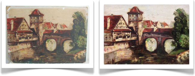 art restoration on canvas